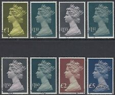 GB Stamps 1977-87 High Value Parcel Post set of 8, SG 1026-1028, Very Fine Used