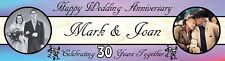 Wedding Anniversary Banner with photo -25th, 30th, 40th, 50th, 60th