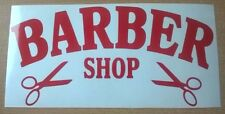 12x6 red barber shop sign scissors window salon barbers vinyl sticker pole chair