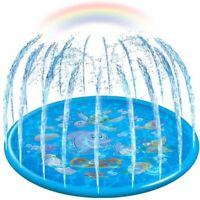 Outdoor Lawn Water Spray Inflatable Splash Sprinkler Mat Pad for Kids Baby Pool