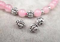 50pcs Metal Beads Alloy Tibetan Pumpkin Imitation Bracelet Jewelry DIY Making