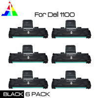 6 Pack Toner Cartridge For Dell 1100 1110 ML-1610R ML1610 1615 1620 1625 Printer