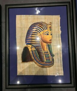 Hand Painted Egyptian Picture on Papyrus Paper - Collectible / History