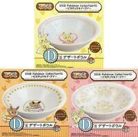 Ichiban Kuji Pokemon Collection 2018 Pikachu & Eevee D Dessert bowl 3pcs-set