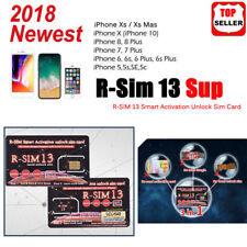 RSIM 13 New 2018 R-SIM Nano Unlock Card fits iPhone XR/X/8/7/6/6s/5S/ iOS 12 11