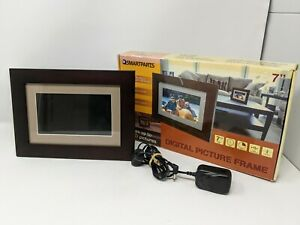 SP72 7-Inch Digital Picture Wood Frame Brown Tested Working