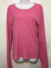 Eileen Fisher Womens S Pink Long-Sleeve Pullover Top