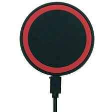Chargeur Batterie Qi Induction Emetteur Sans Fil Station Dock Socle / Rouge