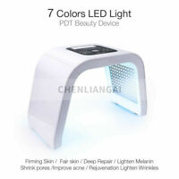 PDT 7 Color LED Light Photon Therapy Beauty Machine Face Body Skin Facial