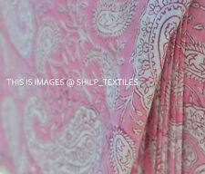 3 Yard New Vintage Fabric Indian Pure Cotton Hand Block Print Sanganeri Running