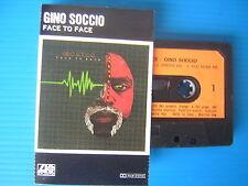 GINO SOCCIO -FACE TO FACE - MUSICASSETTA K7 ORIGINALE 1982 NUOVA