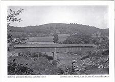 """Satan's Kingdom Bridge""-1850's*Connecticut/RI Covered Bridge {Postcard} (16-CT)"