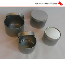 4 Aluminium containers/tins, candle making - ideal for Soya Wax, confectionary