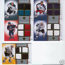 2007 08 ULTIMATE 4 GOLD QUAD JERSEY LOT 50  LECAVALIER