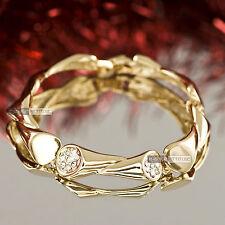 18k yellow gold gp made with SWAROVSKI crystal bar link wedding party bracelet
