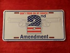 Don't Tread On My Rights 2nd Amendment - Metal Novelty Plate Sign