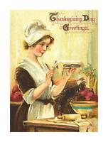 Vintage Thanksgiving Greetings DIGITAL Counted Cross-Stitch Pattern Needlepoint