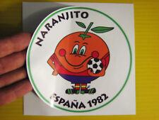 "BEST PRICE!! LOT OF 10 SOCCER DECAL STICKER NARANJITO ESPAÑA 1982 MASCOT 5"" X 5"""