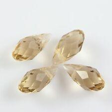 Pendants 10 Pcs Swaro/vski 6*12mm Teardrop Crystal beads C Silver-champagne