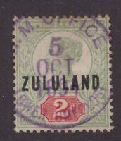 South Africa Zululand Lower Umfolosi 1894 purple cds 2d Qv sg 3 cracker item