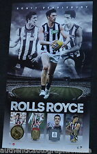 Collingwood Magpies Scott Pendlebury Rolls Royce Print Framed