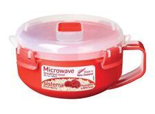 Sistema Microwave Breakfast Porridge Bowl 850Ml Red Bpa Free Dishwasher Safe