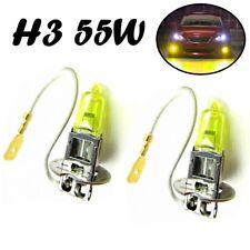 2x H3 55W 12V PK22s Jurmann Aqua Vision Gelb Headlight Halogen Lampe E-geprüft