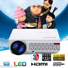 LED 5000 Lúmenes 3D Proyector 1080P HD Cinema Reunión Clase Fiesta KTV HDMI VGA