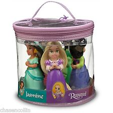 Princess Rapunzel Jasmine Squeeze 5 Pc Toys Bath Tub Pool Disney Theme Parks NEW