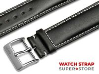 Black Fits HUGO BOSS Watch Strap Band Genuine Leather 18-22mm For Buckle