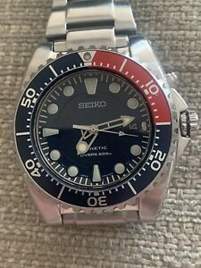 Seiko Kinetic Pepsi Scuba Divers Watch 200 M 5M62-0BL0 Very Good Used Condition