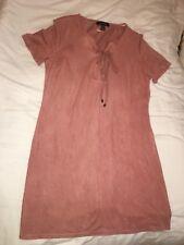 Pink Suede Dress