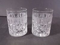 Gorham Olive cut double old fashioned glasses