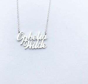 HANDMADE Personalised 2 Two Name Necklace,925 Silver-18K Gold - Rose Gold Plated
