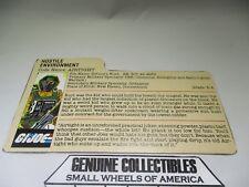 """Vintage"" G.I.Joe HOSTILE ENVIRONMENT File Card"