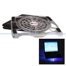 "10""-15"" Laptop Notebook USB LED Light Cooling Cooler Fan Pad Stand Anti-Sli"