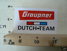 STICKER,DECAL GRAUPNER DUTCH TEAM MODELLBAU ?