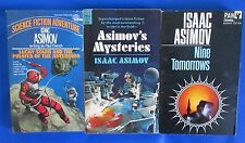 LOT of 3 Science Fiction Paperbacks B17 Isaac Asimov Paul French VGN