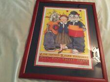 """Rare Mary Engelbreit Large Framed Print 24"""" x 20"""" Euc"""