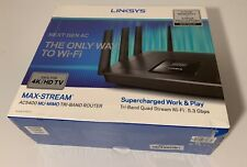 Brand New Linksys - EA5400 Max-Stream AC5400 Tri-Band Wi-Fi Router - black