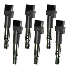 Ignition Coil w/ V6 3.2L 3.6L Set of 6 Kit for Audi Porsche TT Cayenne Passat VW