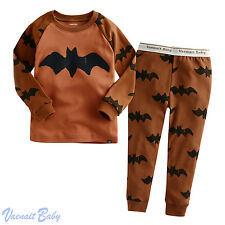 "Vaenait Baby Toddler Kids Girls Boys Clothes Pajama Set ""Bat Brown"" S(2T)"