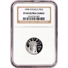 1998 W American Platinum Eagle Proof 1/4 oz $25 - NGC PF69 UCAM