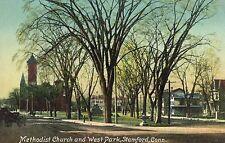 Stamford,Connecticut,Methodist Church & West Park,Fairfield County,Used,1911