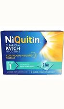 NiQuitin 21mg Clear 24 Hour 21 Patches Stop Smoking Aid