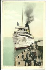 Steamer North Land at Docks Mackinac Island MI Michigan  Postcard