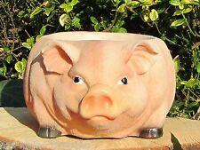Schwein zum bepflanzen 26cm Figur Deko Planztopf Blumentopf Topf Skulptur