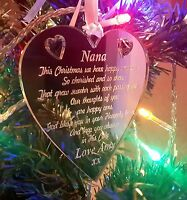 In Memory Decorations Tree Bauble Christmas Gift Engraved Personalised Xmas