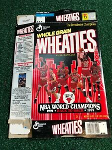 Chicago Bulls Michael Jordan Wheaties Box Championship Edition 1991/1992 18 Oz.
