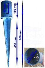 Pfostenanker Ø 100 Bodenhülse Einschlagbodenhülse 600mm verzinkt Bodenanker rund
